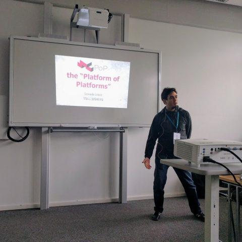 Leo presenting PoP in Madrid