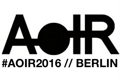 PoP framework to be presented in AoIR 2016